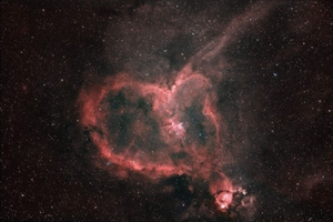 heart, nebula, and universe image