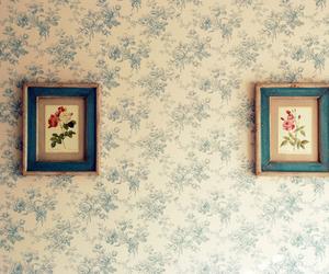 vintage, flowers, and frame image