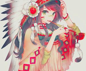 anime, indian, and anime girl image