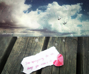 heart, note, and sky image