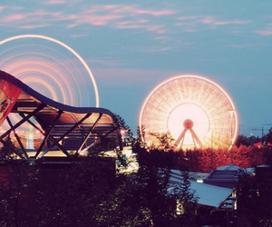 ferris wheel, carnival, and photography image