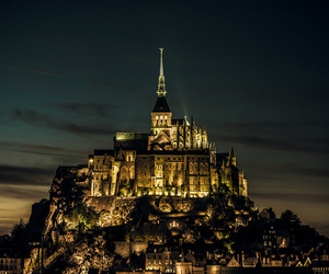 france, castle, and night image
