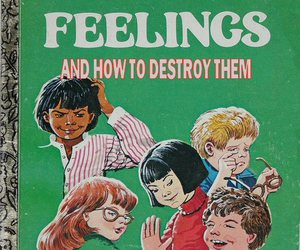 feelings, book, and funny image