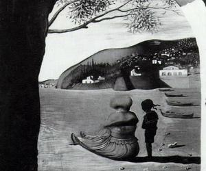 dali, face, and painting image