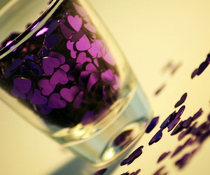 purple, heart, and hearts image