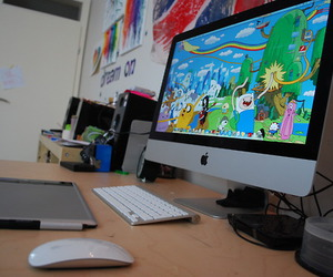photography, computer, and adventure time image
