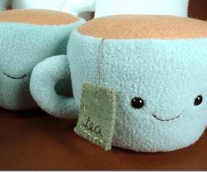 plushie, smile, and tea image