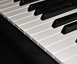 b&w, black and white, and keyboard image