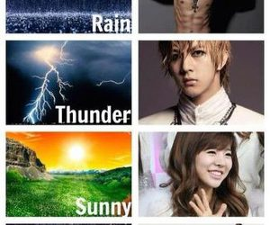 kpop, thunder, and rain image