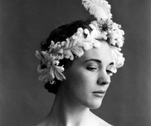 julie andrews, black and white, and feather image