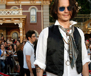 blue, jack sparrow, and johnny depp image