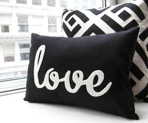 love, black, and pillow image