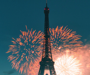 paris, fireworks, and france image
