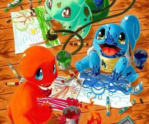 pokemon, squirtle, and charmander image