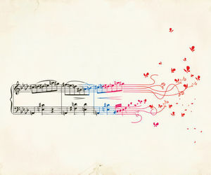 music, note, and butterfly image