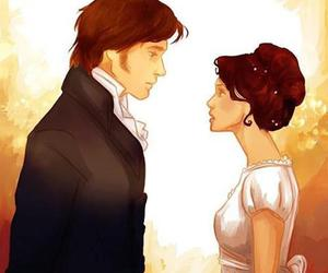 pride and prejudice, mr darcy, and Elizabeth image