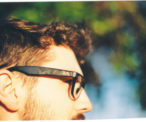 glasses, hair, and man image