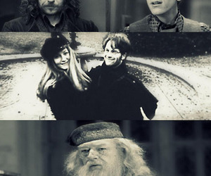 harry potter, remus lupin, and albus dumbledore image