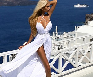 dress, summer, and blonde image