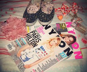 magazine, bow, and shoes image