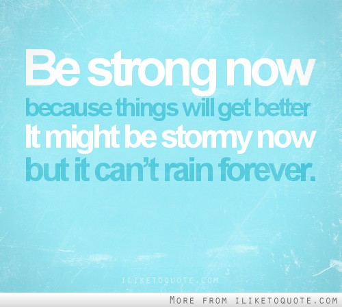 Iliketoquotecom Be Strong Now Because Things Will Get Better