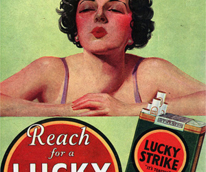cigarette, lucky strike, and vintage image