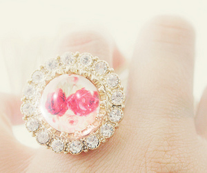 cute, pink, and ring image