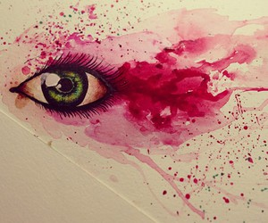 eye, watercolor, and drawing image