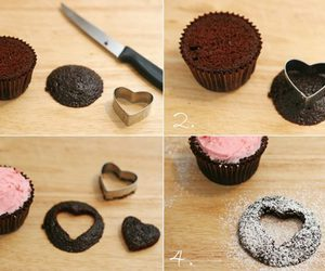 cupcake, chocolate, and diy image