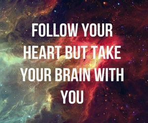 brain, quotes, and heart image