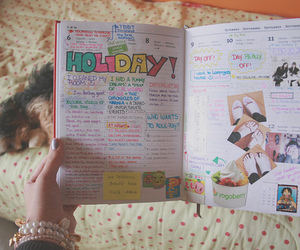diary, holiday, and book image