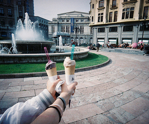 ice cream, photography, and vintage image