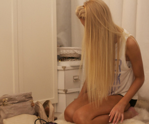 blond, hair, and fashion image