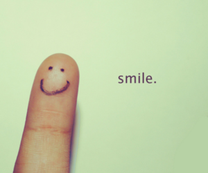 smile, finger, and happy image