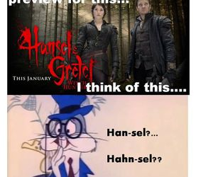 bugs bunny, funny, and hansel & gretel image