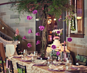 table setting and violet image