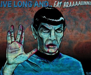 zombie, spock, and star trek image