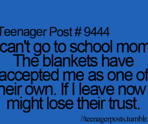 funny, blanket, and school image