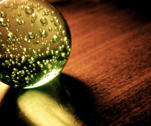 bubbles, crystal ball, and green image