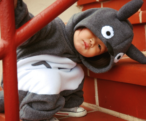 cute, totoro, and baby image