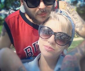 boyfriend, glasses, and piercing image