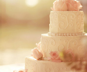 cake, wedding, and wedding cake image