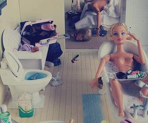 barbie, girl and boy, and crazy image