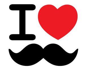 mustache, heart, and moustache image