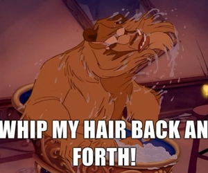 beauty and the beast and whip my hair image