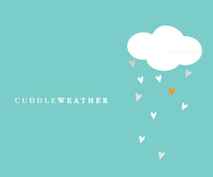 cuddle, cloud, and hearts image