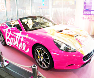 barbie, car, and pink image