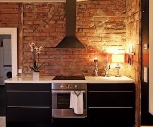 kitchen and brick image