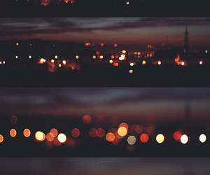 light, city, and night image