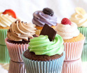 colors, cupcakes, and delicious image